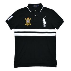 Custom Slim Fit Big Pony Gold Crest Polo Shirt #1